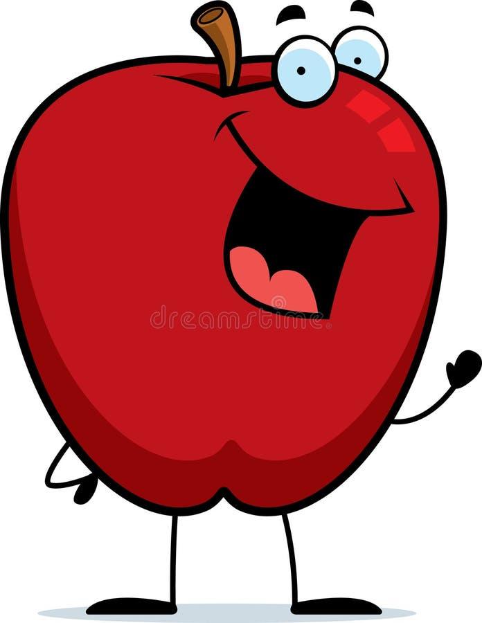 Het Golven van de appel stock illustratie
