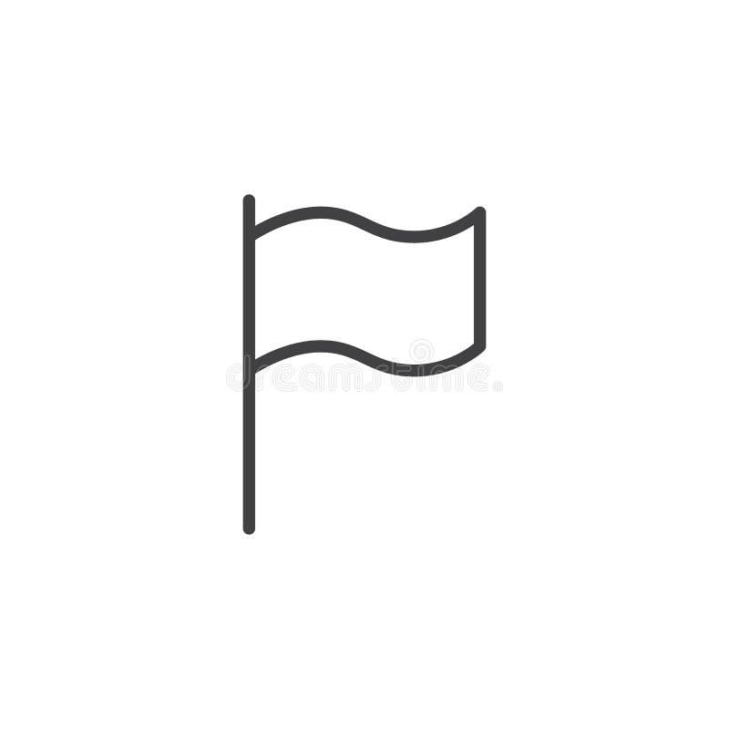 Het golvende pictogram van het vlagoverzicht stock illustratie