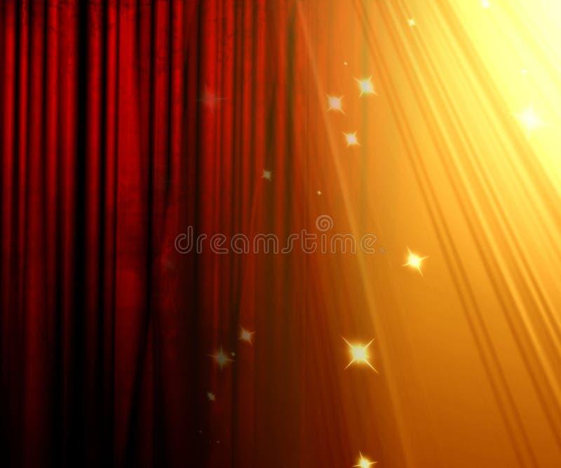 Het gordijn van de film royalty-vrije illustratie