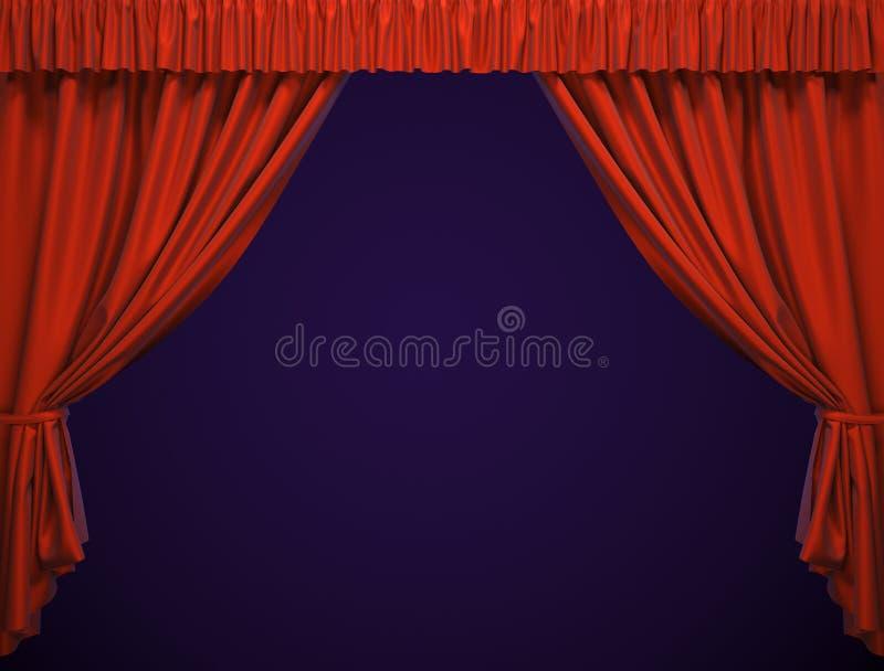Het gordijn van het theater. royalty-vrije stock afbeelding