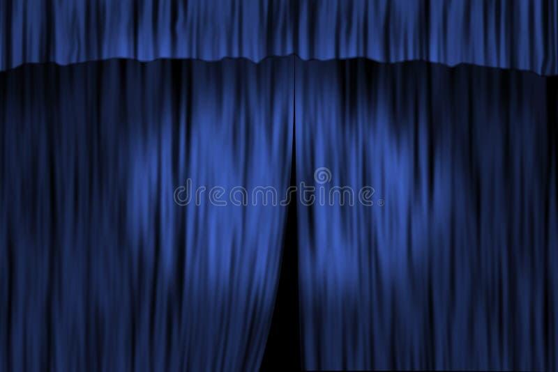 Het gordijn van het theater vector illustratie