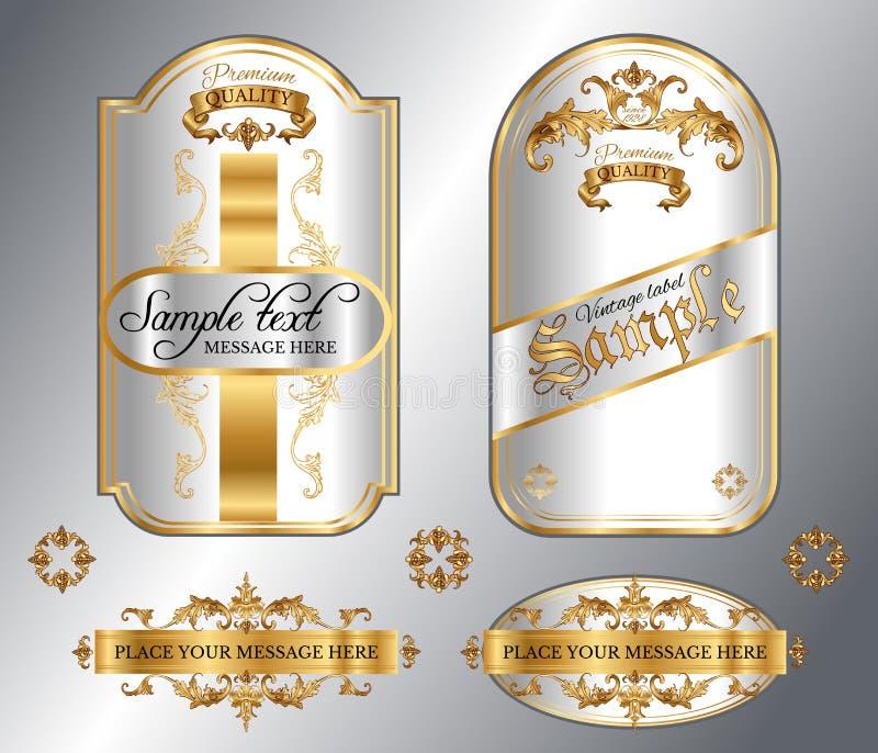Het goud frame etiketten vector illustratie
