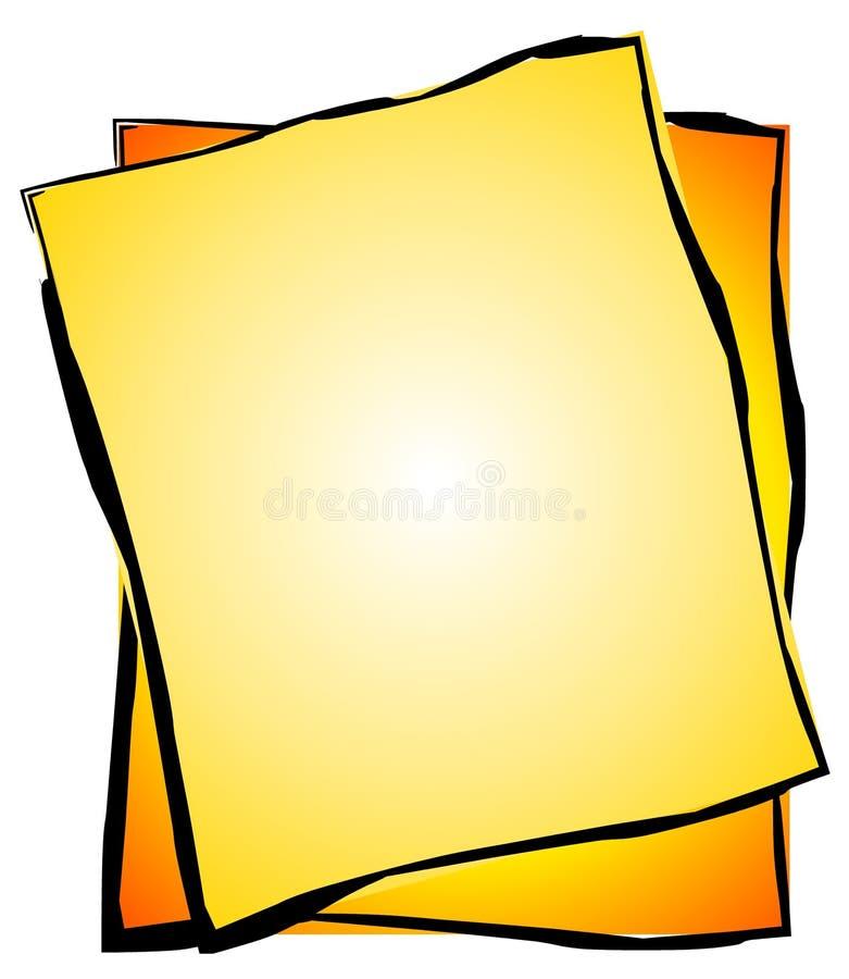 Het goud Gekleurde Art. van de Paperclip royalty-vrije illustratie