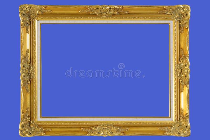 het goud plateerde houten omlijsting   stock fotografie