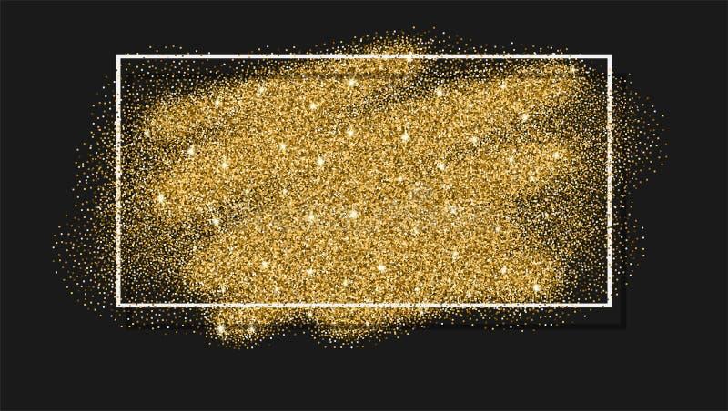 Het goud schittert achtergrond Abstracte fonkeling, lovertjetextuur stock illustratie