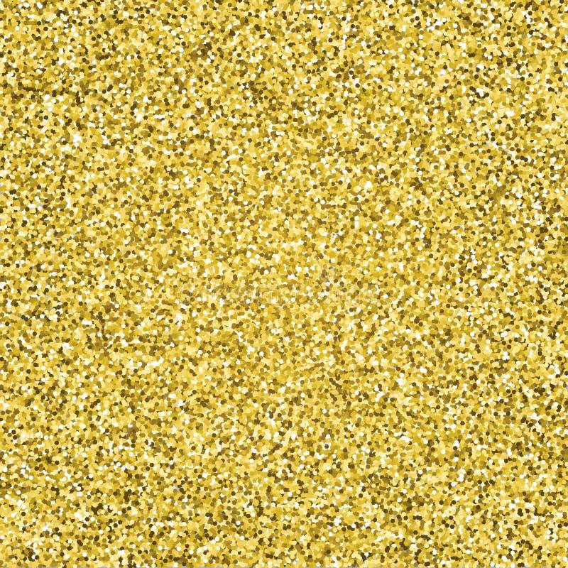Het goud schittert fonkelend patroon Decoratieve naadloze achtergrond Glanzende glam abstracte textuur Gouden de confettienachter stock illustratie