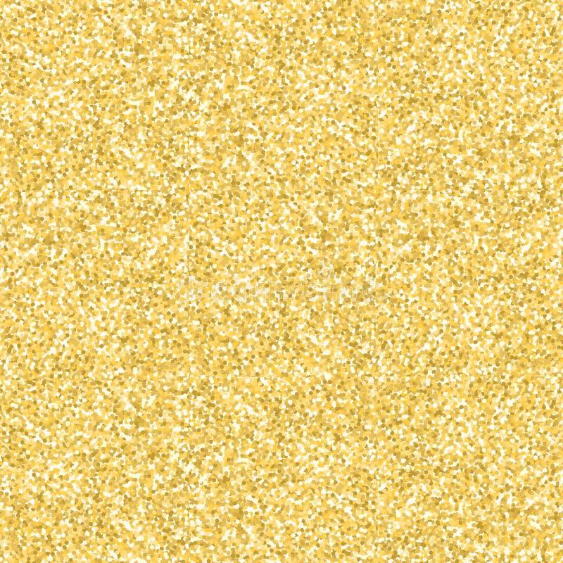 Het goud schittert naadloze patroontextuur Vector illustratie stock illustratie