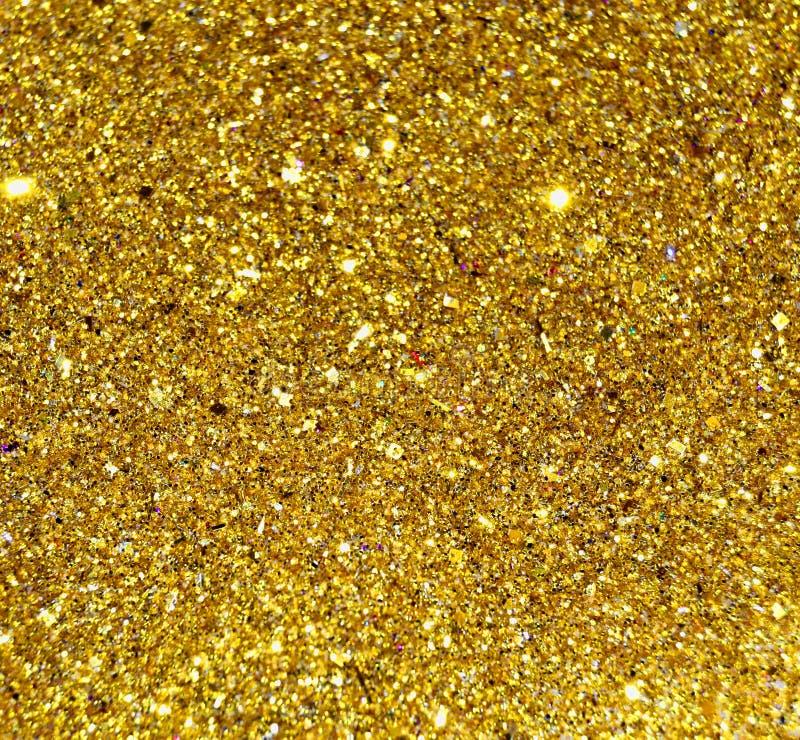 Het goud schittert Sterrenachtergrond stock afbeeldingen