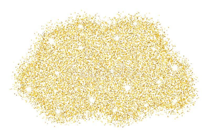 Het goud schittert Stofgoudfonkeling Gouden Vlek Luxeachtergrond voor uw ontwerp Moderne manier Vector illustratie stock illustratie