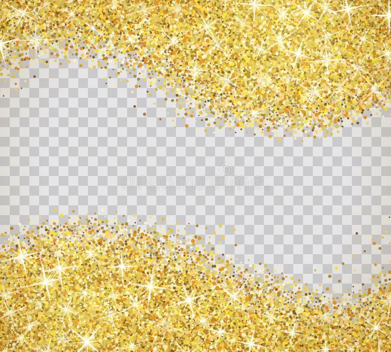 Het goud schittert textuur met fonkelingen royalty-vrije illustratie