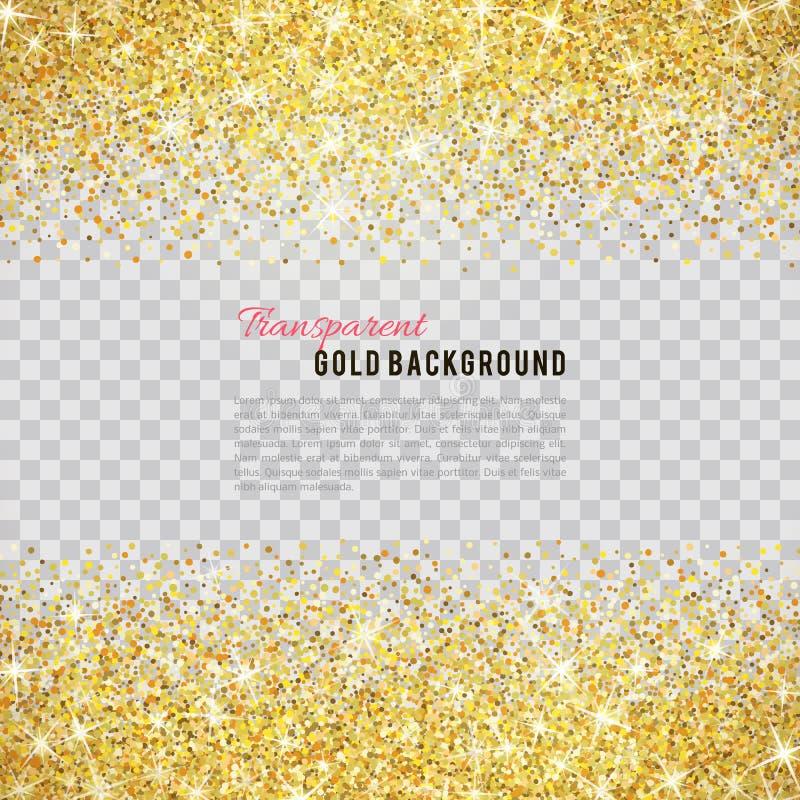 Het goud schittert textuur met fonkelingen stock illustratie