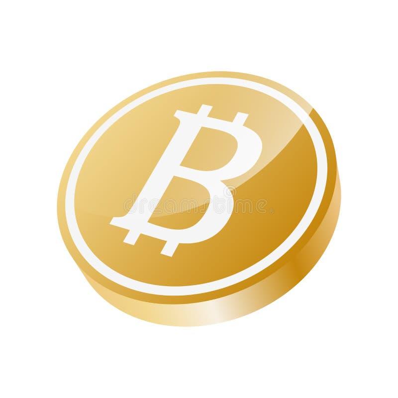 Het goud van het Bitcointeken clipart stock illustratie