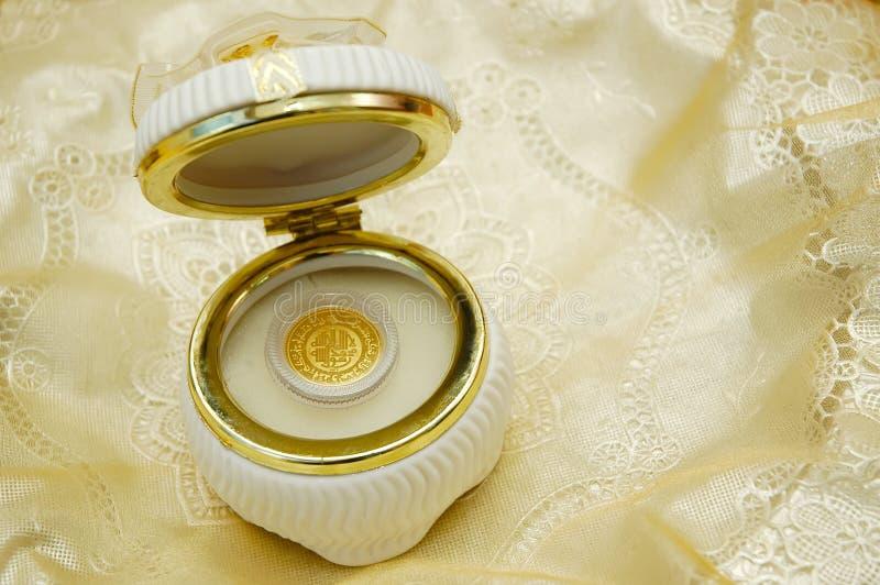 Het goud van de dinar royalty-vrije stock foto's