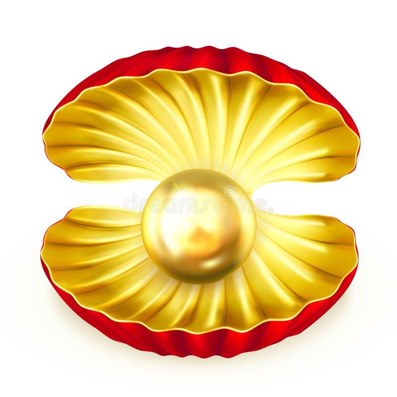 Het goud van de parel stock illustratie