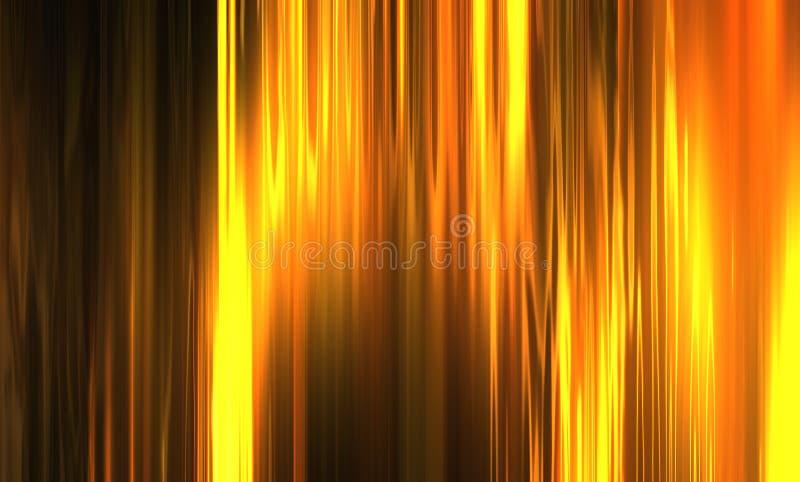 Het goud van de stroom royalty-vrije illustratie