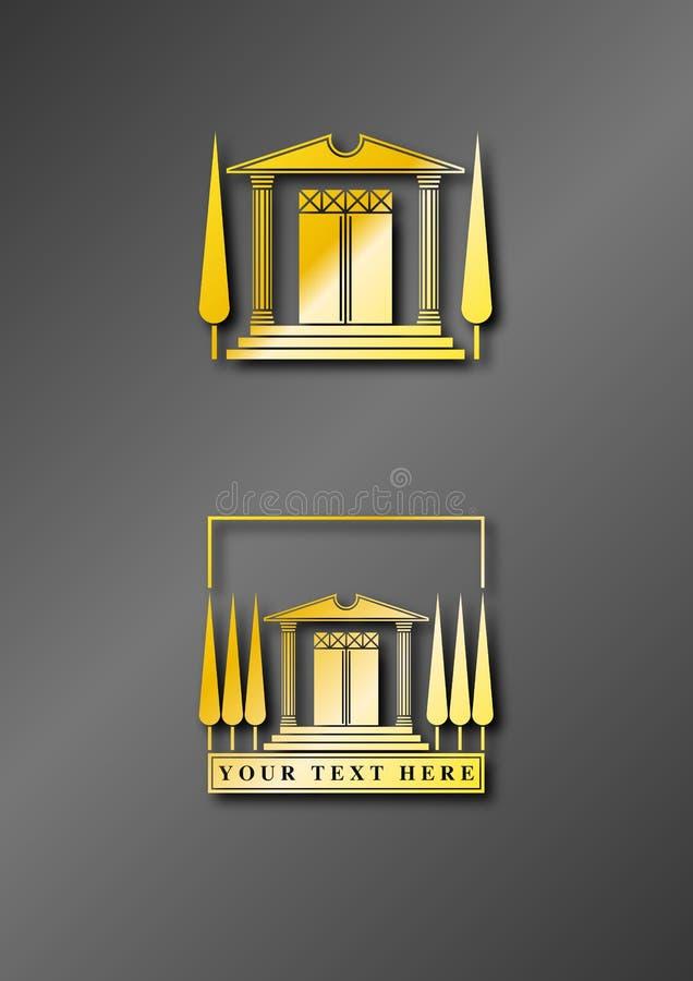 Het Goud van het Embleem van de tempel royalty-vrije illustratie