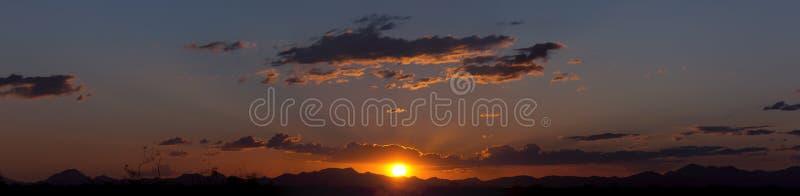 Het Goud van het Kristal van de zonsondergang stock fotografie