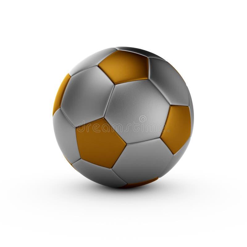 Het goud van het voetbal royalty-vrije illustratie