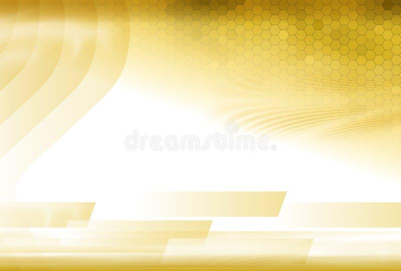 Het gouden Abstracte Malplaatje van Golvingen stock illustratie