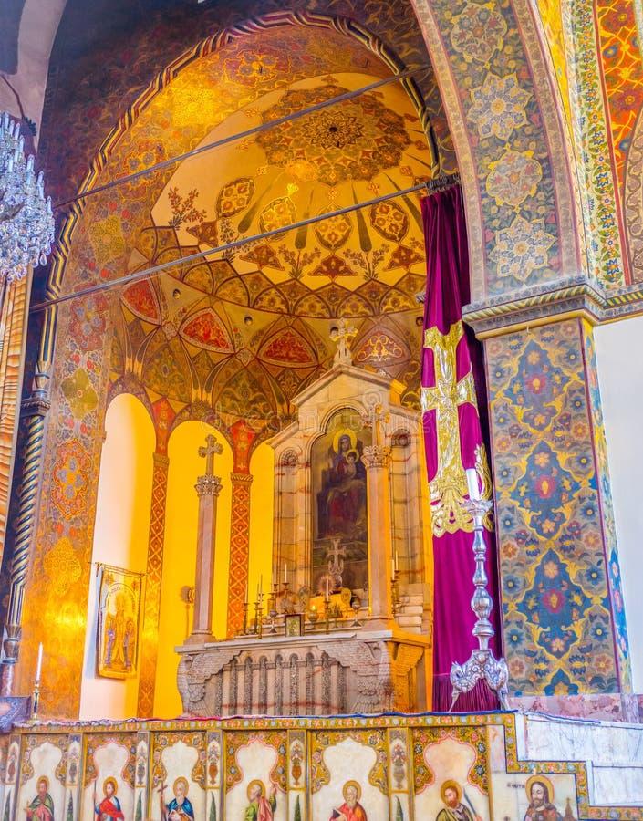 Het gouden altaar royalty-vrije stock afbeelding