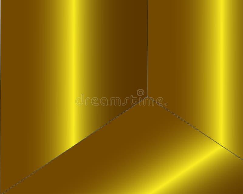 Het gouden gouden brons, nam of de de textuurachtergrond van de koperfolie toe Achtergrond van de de folieoppervlakte van de fonk vector illustratie