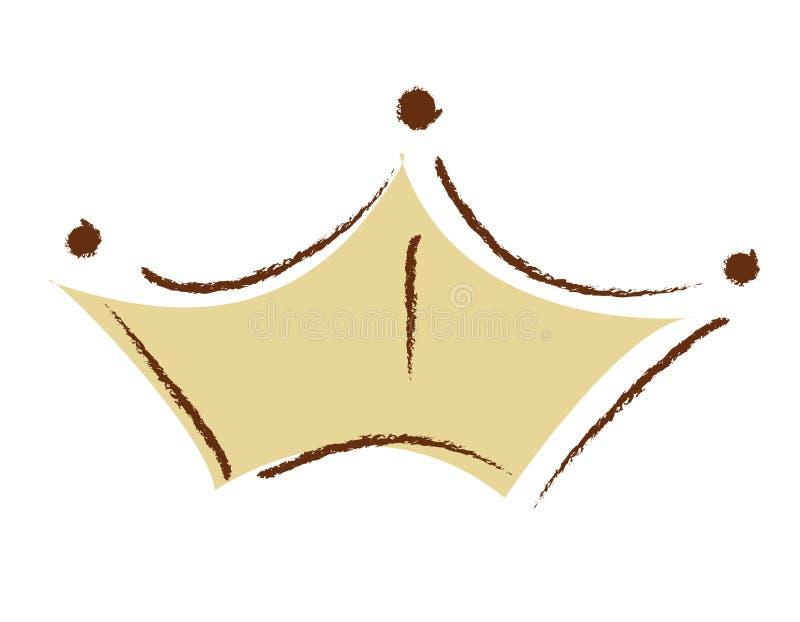 Het gouden embleem van het kroonbedrijf vector illustratie