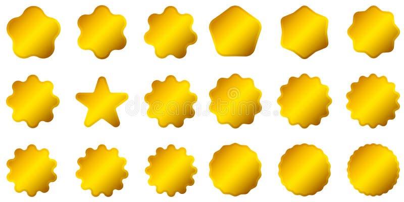 Het gouden etiket van de premiekwaliteit over witte achtergrond Gouden teken Beperkte Uitgave, voor Verkoopsticker embleem royalty-vrije illustratie