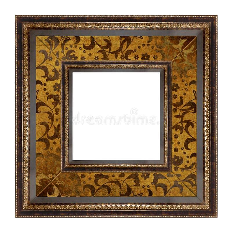 Het gouden frame van het beeld royalty-vrije stock afbeeldingen