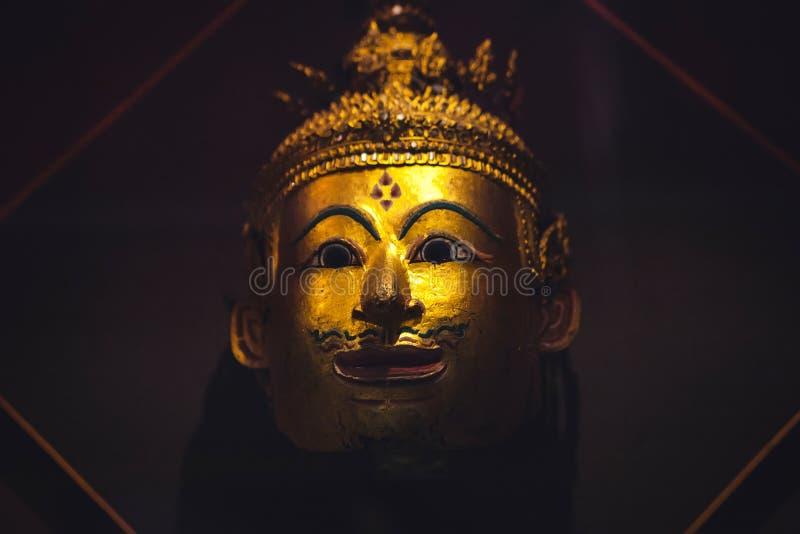 Het gouden Gezicht van Boedha stock fotografie