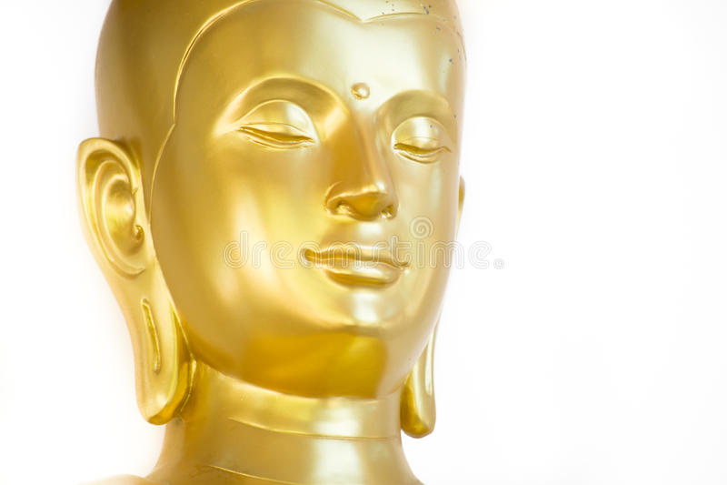 Het gouden Gezicht van Boedha royalty-vrije illustratie