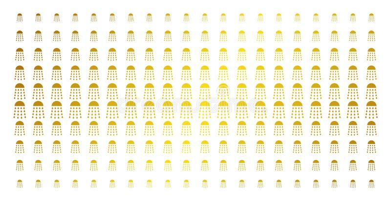 Het Gouden Halftone Patroon van de nevelstroom vector illustratie