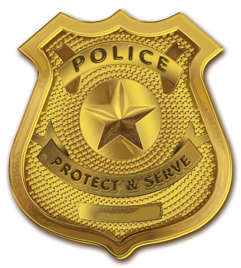 Het gouden Kenteken van de Politieman vector illustratie