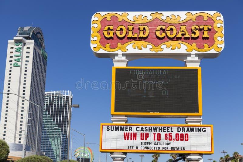 Het gouden Kusthotel in Las Vegas, NV op 14 Juni, 2013 royalty-vrije stock foto's