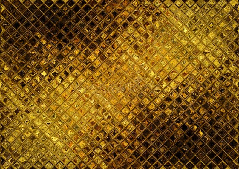 Het gouden mozaïek van de luxe royalty-vrije illustratie