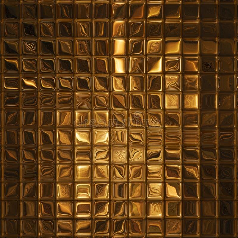 Het gouden mozaïek van de luxe stock illustratie
