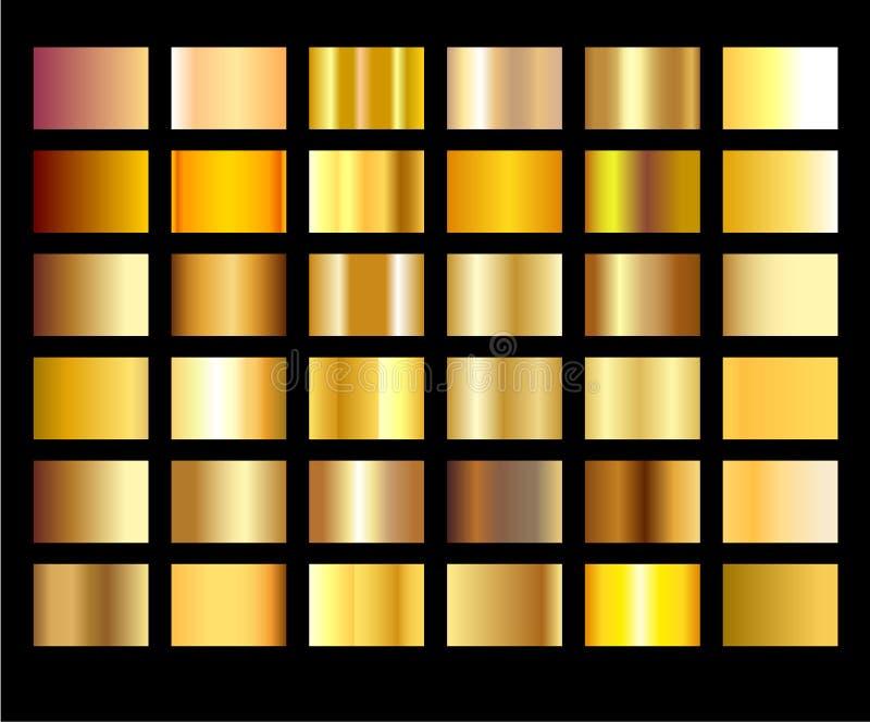 Het gouden naadloze patroon van het achtergrondtextuur vectorpictogram Lichte, realistische, elegante, glanzende, metaal en goude vector illustratie
