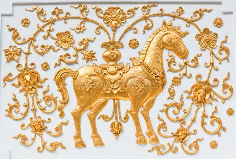 Het gouden paard royalty-vrije stock afbeelding