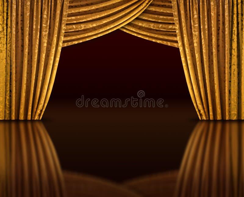 Het gouden stadium denkt na royalty-vrije stock foto