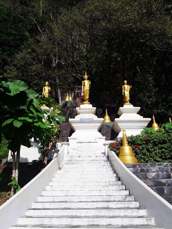 Het Gouden standbeeld van Boedha in Thailand stock foto's