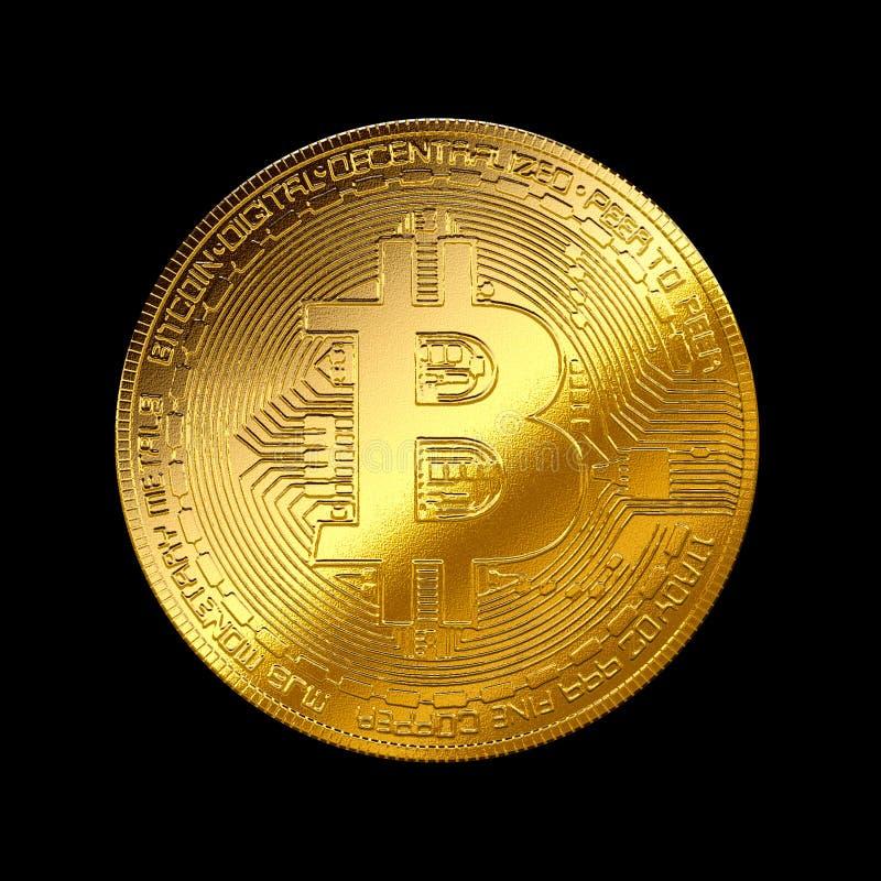 Het gouden symbool bitcoincryptocurrency geïsoleerde achtergrond van Internet stock illustratie