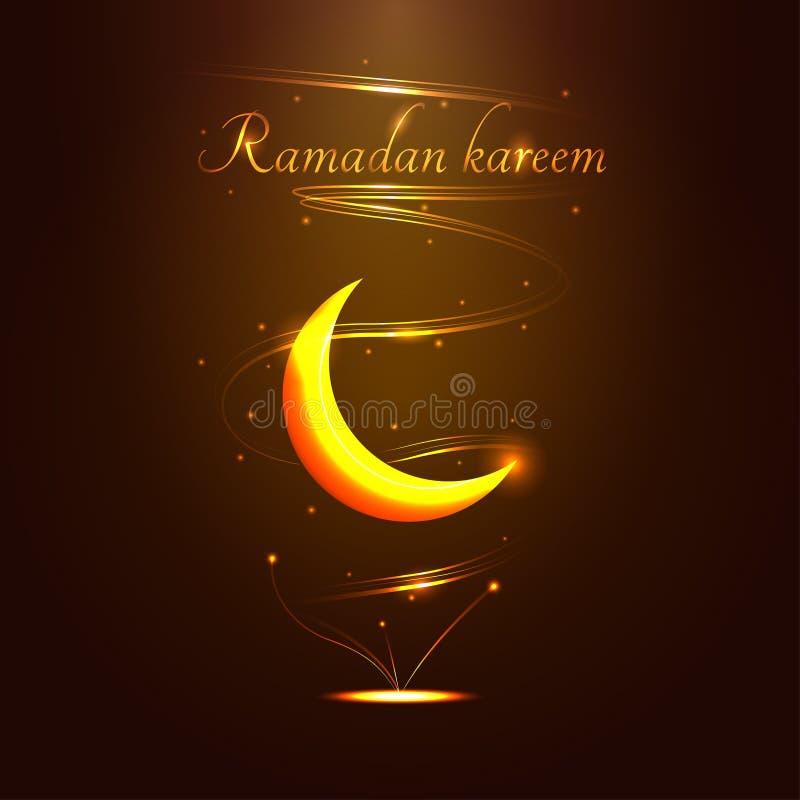 Het gouden teken van Ramadan Kareem - vectorillustratie vector illustratie