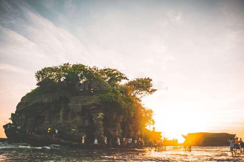 Het gouden Uur Geniet van de zonsondergang stock foto