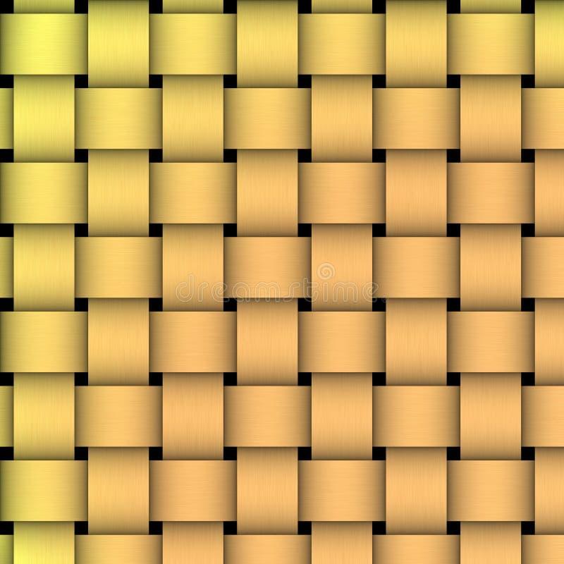 Het gouden Weefsel van de Mand stock illustratie