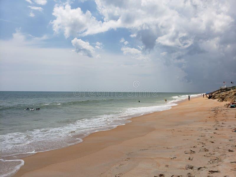 Het gouden zand van Florida stock fotografie