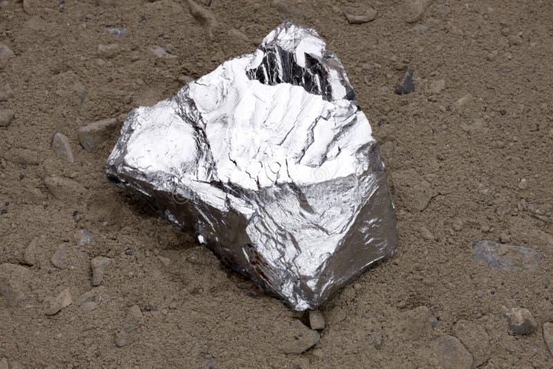 Het goudklompje van het zink stock afbeeldingen