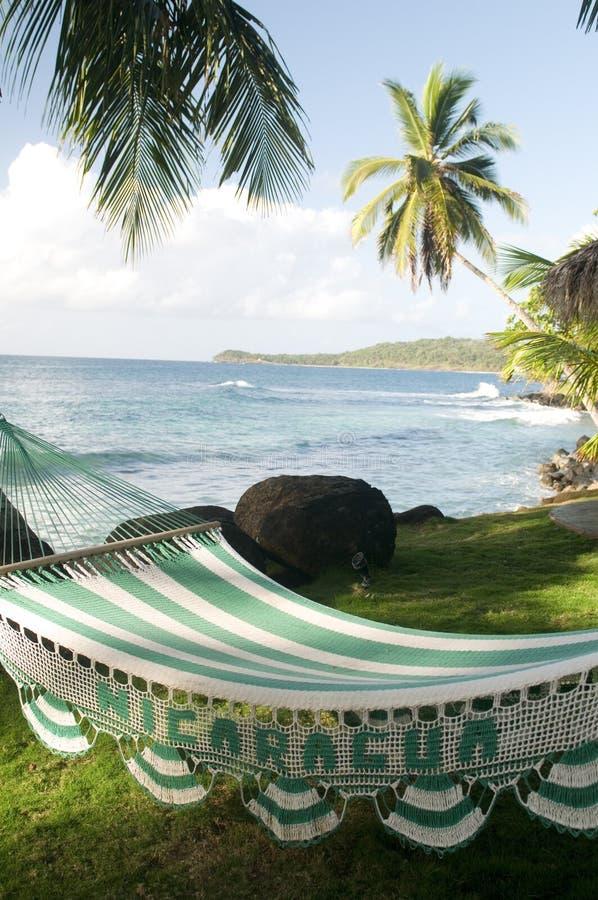 Het Graaneiland Nicaragua de Caraïben van de hangmattoevlucht royalty-vrije stock foto's