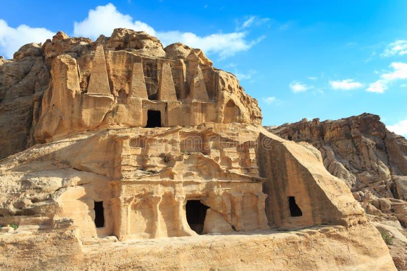 Het Graf en Bab al-Siq Triclinium van de obelisk royalty-vrije stock afbeelding