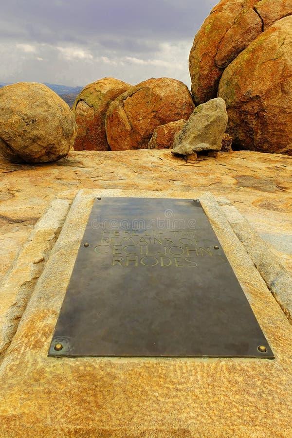 Het graf van Cecil J. Rhodes ' in Matobo royalty-vrije stock foto's