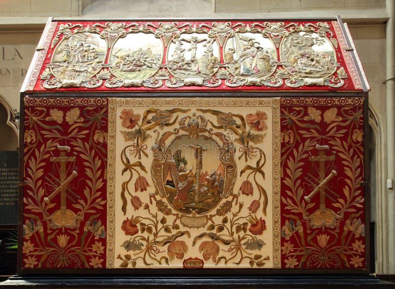 Het graf van Christus in de kathedraal van Zagreb royalty-vrije stock foto's
