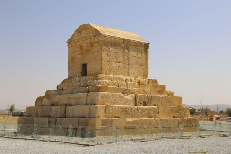 Het graf van Cyrus Groot is het belangrijkste monument in Pa royalty-vrije stock foto